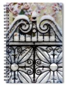 Decorative Iron Gate In Winter Spiral Notebook