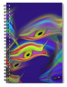 Deep Blue Ocean Life Spiral Notebook