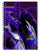 Deep Purple Abstract Spiral Notebook