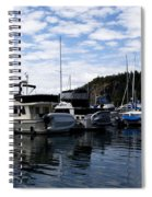 Deer Harbor Blues Spiral Notebook