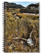 Deer Skull In Montana Badlands Spiral Notebook