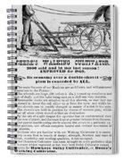 Deere Plow, 1869 Spiral Notebook