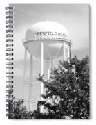 Deerfield Beach Tower In Black And White Spiral Notebook