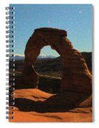 Delicate Arch Under Moonlight Spiral Notebook