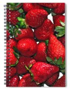 Deliciously Sweet Strawberries Spiral Notebook