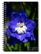 Delphinium Face Spiral Notebook