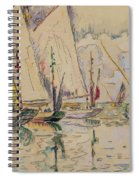 Departure Of Tuna Boats At Groix Spiral Notebook