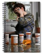 Depression And Addiction Spiral Notebook