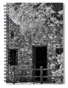 Desert Castle Black And White Spiral Notebook