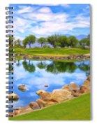 Desert Golf Spiral Notebook
