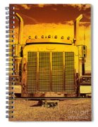 Desert Hauler Abstract Spiral Notebook
