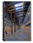 Deserted Railroad Platforms Spiral Notebook