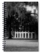 Destrehan Plantation In Black And White Spiral Notebook