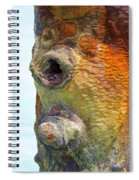 Detail Of A Rusted Dock Pier  Spiral Notebook