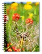 Determined Dandelion Spiral Notebook