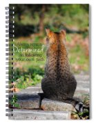 Determined Encouraging Cat Photo Spiral Notebook