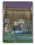 Detroit's Michigan Central Station - Michigan Central Depot Spiral Notebook