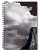 Devils Tower Wyoming Bw Spiral Notebook
