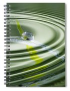 Dew Bead On The Blade Of Grass Spiral Notebook