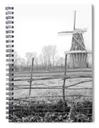 Dezwaan Windmill In Holland Michigan During November Spiral Notebook