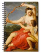 Diana And Cupid Spiral Notebook