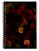 Dice And Letters Spiral Notebook