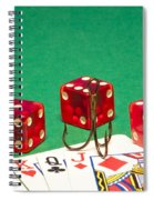 Dice Red Cards Hook 1 B Spiral Notebook