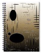 Digital Dimensions In Brown Series Image 2 Spiral Notebook