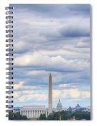 Digital Liquid - Clouds Over Washington Dc Spiral Notebook