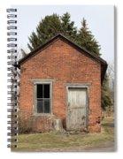 Dilapidated Old Brick Building Spiral Notebook