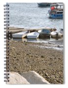 Dinghies At Green Harbor Spiral Notebook