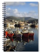 Dingle, Co Kerry, Ireland Boats In A Spiral Notebook