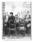 Dinner Party, 1880 Spiral Notebook