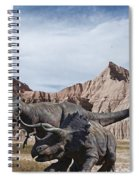 Dino's In The Badlands Spiral Notebook