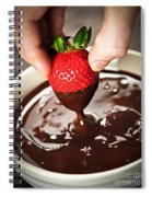 Dipping Strawberry In Chocolate Spiral Notebook