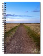 Dirt Road Through The Prairie Spiral Notebook