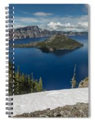 Discovery Point And Wizard Island Spiral Notebook