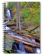 Distant Ozone Falls And Rapids In Autumn Spiral Notebook