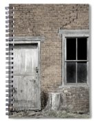 Distressed Facade Spiral Notebook