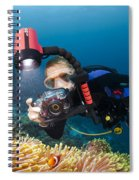 Diver And Anenome Fish Spiral Notebook