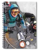 Diving In The Ice Spiral Notebook