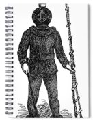 Diving Suit, 1855 Spiral Notebook