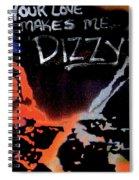Dizzy Love Spiral Notebook