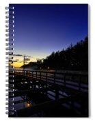 Dock At Lock 23 Spiral Notebook