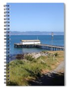 Dock At Point Reyes Calfornia . 7d16069 Spiral Notebook