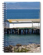 Dock At Point Reyes Calfornia . 7d16070 Spiral Notebook