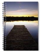Dock At Sunset Spiral Notebook