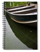 Docked In Central Park Spiral Notebook