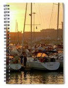 Docked Yachts Spiral Notebook