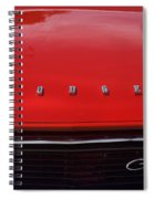 Dodge Challenger Hood And Grill Spiral Notebook